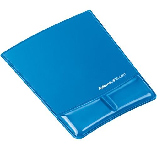 Mousepad Crystal Gel mit Health-V Auflage blau Fellowes 9182201 Produktbild