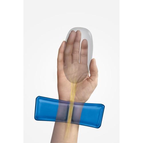 Mousepad Crystal Gel mit Health-V Auflage blau Fellowes 9182201 Produktbild Additional View 1 L