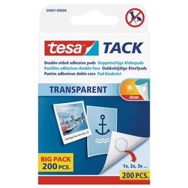 Klebepads TACK doppelseitig klebend wiederablösbar Tesa 59401-00000-01 (PACK=200 STÜCK) Produktbild