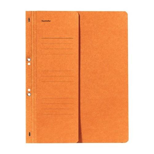 Ösenhefter 1/2 Vorderdeckel für kaufmännische Heftung orange Karton 80000516 Produktbild Front View L