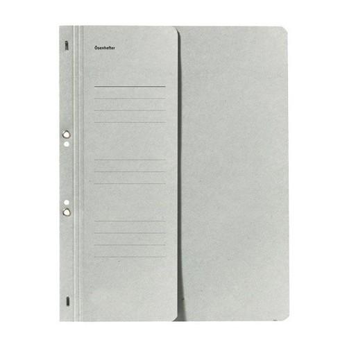 Ösenhefter 1/2 Vorderdeckel für kaufmännische Heftung grau Karton 80000508 Produktbild Front View L