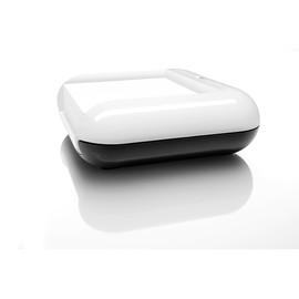 Haftnotizbox eyestyle mit Stiftehalter + Haftnotizen weiß/schwarz Sigel SA102 Produktbild