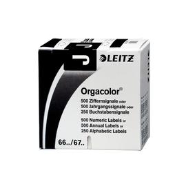 Buchstabensignale J Orgacolor auf Rolle 30x23mm schwarz selbstklebend Leitz 6619-10-00 (SCH=250 STÜCK) Produktbild