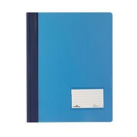 Schnellhefter Duralux transluzent mit Beschriftungsfenster und Innentasche A4 überbreit blau Durable 2680-06 Produktbild