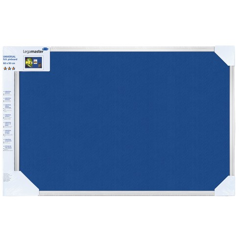 Textil-Pinnwand UNIVERSAL mit Aluminiumrahmen 120x90cm blau Legamaster 7-141854-1 Produktbild Front View L