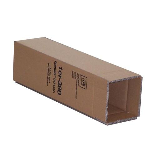 Versandkarton braun für 1 Flasche 410 x 95 x 110mm Famulus 816601 Produktbild Front View L