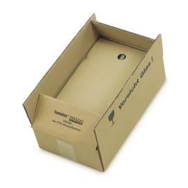 Versandkarton braun für 2 Flaschen 400 x 200 x 110mm Famulus 816602 Produktbild
