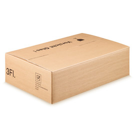 Versandkarton braun für 3 Flaschen 400 x 280 x 110 mm Famulus 816603 Produktbild
