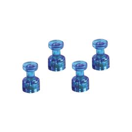Memohalter 18mm 9Blätter Haftkraft blau transparent Magnetoplan 1666114 (PACK=4 STÜCK) Produktbild