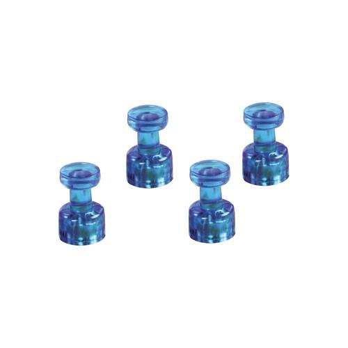 Memohalter 18mm 9Blätter Haftkraft blau transparent Magnetoplan 1666114 (PACK=4 STÜCK) Produktbild Front View L