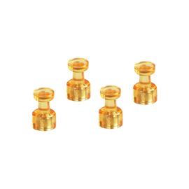 Memohalter 18mm 9Blätter Haftkraft orange transparent Magnetoplan 1666144 (PACK=4 STÜCK) Produktbild