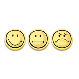 Symbolkarten Smile Positiv ø 10cm gelb Magnetoplan 1111562 (PACK=100 STÜCK) Produktbild