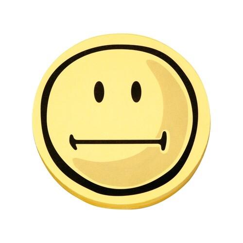 Symbolkarten Smile Neutral ø 10cm gelb Magnetoplan 1111563 (PACK=100 STÜCK) Produktbild Front View L