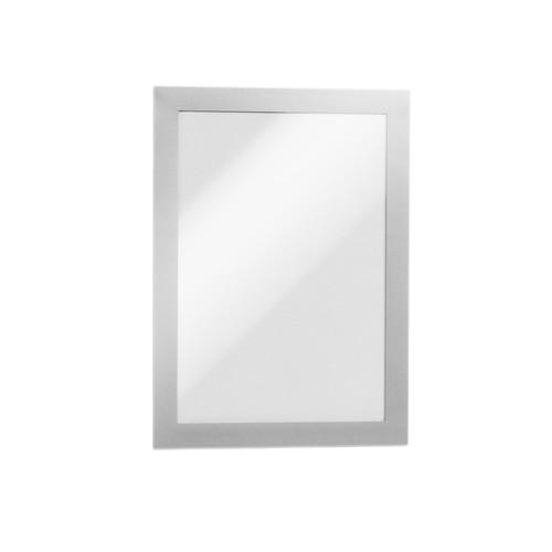 Informationsrahmen DURAFRAME A5 silber/transparent selbstklebend Durable 4871-23 (PACK=2 STÜCK) Produktbild