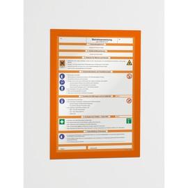 Informationsrahmen DURAFRAME A4 orange/transparent selbstklebend Durable 4872-09 (PACK=2 STÜCK) Produktbild