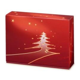 Geschenkverpackung Goldbaum rot Für 3 Flaschen Famulus 000359 Produktbild