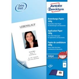 Bewerbungspapier Inkjet A4 100g weiß seidenmatt Zweckform 2788 (PACK=200 BLATT) Produktbild