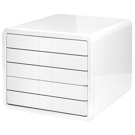 Schubladenbox iBox Designbox 5 Schübe 295x247x355mm weiß Kunststoff HAN 1551-12 Produktbild