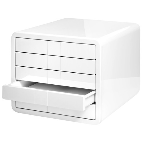 Schubladenbox iBox Designbox 5 Schübe 295x247x355mm weiß Kunststoff HAN 1551-12 Produktbild Additional View 2 L