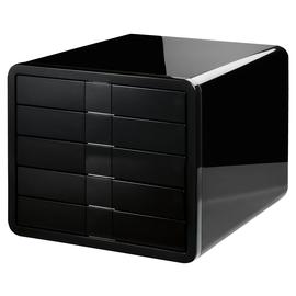 Schubladenbox iBox Designbox 5 Schübe 295x247x355mm schwarz Kunststoff HAN 1551-13 Produktbild
