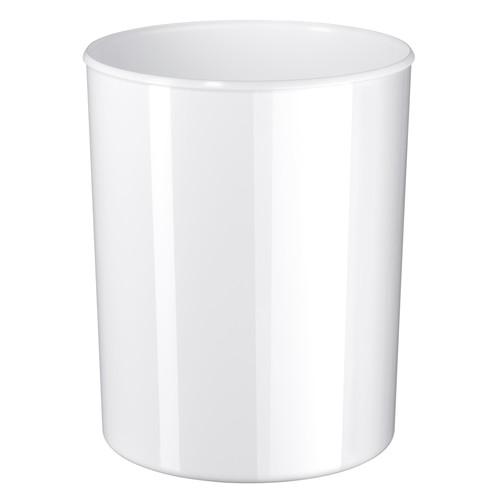 Design-Papierkorb ELEGANCE 13l hochglänzend weiß HAN 18130-12 Produktbild