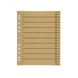 Trennblätter mit abschneidbaren Taben A4 240x300mm chamois vollfarbig Karton BestStandard (PACK=100 STÜCK) Produktbild