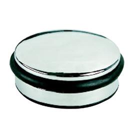 Türstopper flach Höhe 4cm/Durchmesser 10cm chrom Alco 2850 Produktbild
