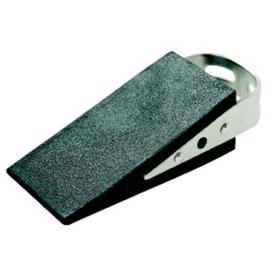 Türstopper in Keilform mit Edelstahl-Handgriff 5x3,5x13cm schwarz Gummi Alco 2854 Produktbild