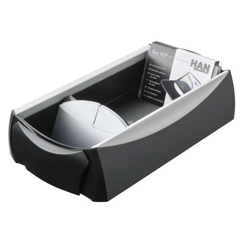 Visitenkartenbox Vip-Set 120x245x80mm für 500Karten schwarz HAN 2000-13 Produktbild Additional View 1 L
