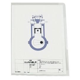 Sichthüllen oben + rechts offen A4 150µ farblos PVC Hartfolie Durable 2339-19 (PACK=50 STÜCK) Produktbild