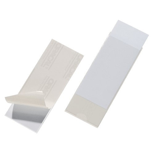 Selbstklebetaschen Pocketfix 58x150mm transparent Durable 8075-19 (PACK=10 STÜCK) Produktbild Front View L
