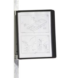 Sichttafelständer VARIO MAGNET WALL 5 mit 5 schwarzen Sichttafeln magnetisch Durable 5914-01 Produktbild
