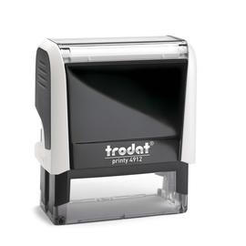 Textstempel Printy Typomatic selbstfärbend zum Selbersetzen blau-schwarz Trodat 4912 Produktbild