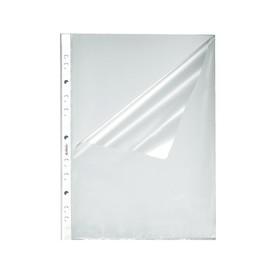 Prospekthüllen oben + seiltich offen A4 55µ PP genarbt Herlitz 10840098 (PACK=100 STÜCK) Produktbild