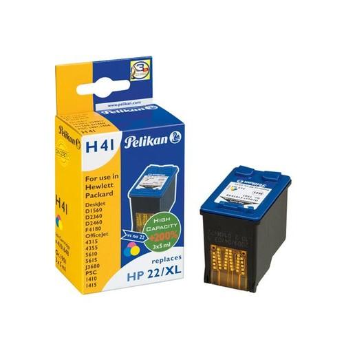 Tintenpatrone Gr. 1901 (C9352CE) für DeskJet 3940/PSC1410 3x5ml farbig Pelikan 4101648 Produktbild Front View L