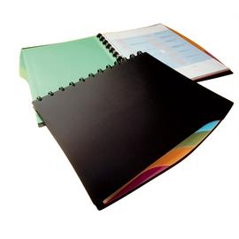 Sichtbuch Duralook Style mit 4-teiligem Register und 20 Hüllen A4 schwarz Durable 2435-01 Produktbild