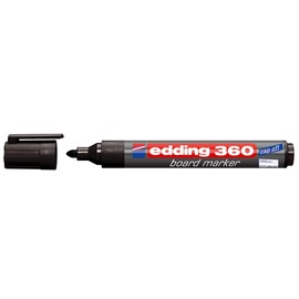 Whiteboardmarker 360 1,5-3mm Rundspitze schwarz trocken abwischbar Edding 4-360001 Produktbild