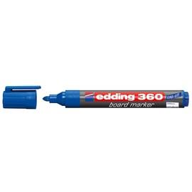 Whiteboardmarker 360 1,5-3mm Rundspitze blau trocken abwischbar Edding 4-360003 Produktbild