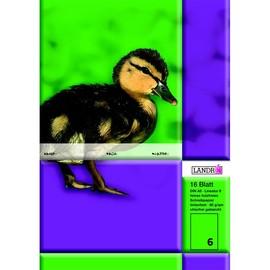 Heft starker Deckel A5 Lineatur 6 blanko 16Blatt 80g holzfrei weiß Landré 100050072 Produktbild