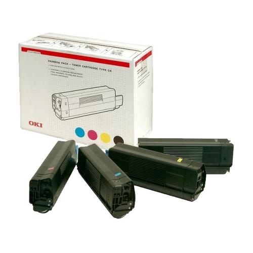 Toner Value Kit für C5250/C5450/C5510/ C5540MFP 4Farben je 5000Seiten OKI 42403002 Produktbild Front View L