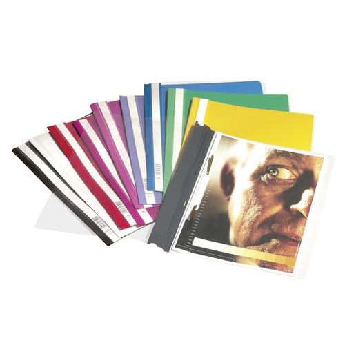 Schnellhefter Standard A4 schwarz Hartfolie Durable 2570-01 Produktbild Additional View 1 L