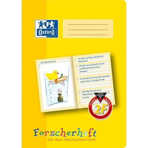 Forscherheft Oxford A4 Lineatur 2F 16Blatt 90g gelb 100050095 Produktbild Front View L