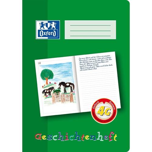 Geschichtenheft Oxford A4 Lineatur 4G 16Blatt 90g Optik Paper 100050098 Produktbild Front View L
