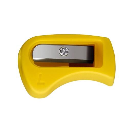 Spitzer einfach ohne Behälter EASYcolors EASYgraph keilform gelb für Linkshänder Stabilo 4531 Produktbild Front View L