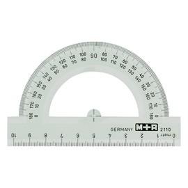 Halbkreis-Winkelmesser 10cm glasklar Kunststoff M+R 2110.0000 Produktbild
