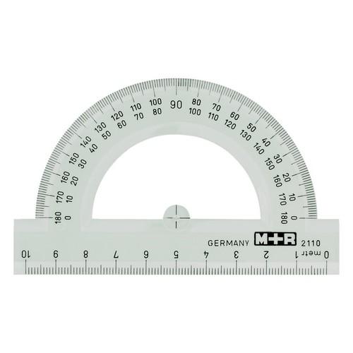 Halbkreis-Winkelmesser 10cm glasklar Kunststoff M+R 2110.0000 Produktbild Front View L