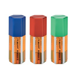 Fineliner Point 88 Mini Box 0,4mm Rundspitze sortiert Stabilo 688/18-11 (PACK=18 STÜCK) Produktbild