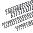Draht-Binderücken 2:1-Teilung 11mm ø bis 90Blatt schwarz Renz 321100123 (PACK=100 STÜCK) Produktbild