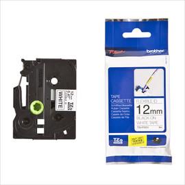 Schriftband Flexi-Tape laminiert 12mmx8m schwarz auf weiß Brother TZe-FX231 Produktbild