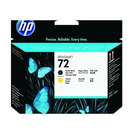 Druckkopfpatrone 72 für HP DesignJet T610/T1100 130ml schwarz matt + yellow HP C9384A Produktbild